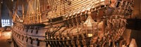 """Wooden ship Vasa in a museum, Vasa Museum, Stockholm, Sweden by Panoramic Images - 36"""" x 12"""""""