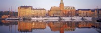 """Ferries and Sailboats moored at a harbor, Nybroviken, SAS Radisson Hotel, Stockholm, Sweden by Panoramic Images - 36"""" x 12"""" - $34.99"""