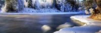 """Dal River in winter, Dalarna Province, Sweden by Panoramic Images - 36"""" x 12"""", FulcrumGallery.com brand"""