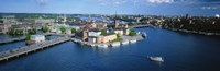 """Aerial view of an island, Riddarholmen Island, Riddarfjarden, Stockholm, Sweden by Panoramic Images - 36"""" x 12"""", FulcrumGallery.com brand"""
