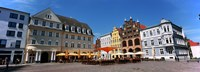 """Tourists at a sidewalk cafe, Stralsund, Mecklenburg-Vorpommern, Germany by Panoramic Images - 36"""" x 12"""" - $34.99"""