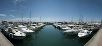 """Boats docked in the small harbor, Provence-Alpes-Cote d'Azur, France by Panoramic Images - 36"""" x 12"""""""