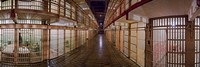 Corridor of a prison, Alcatraz Island, San Francisco, California, USA by Panoramic Images - various sizes