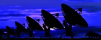 "Silhouette of satellite dishes by Panoramic Images - 36"" x 12"""