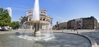 "Lucae Fountain in front of Alte Oper, Frankfurt, Hesse, Germany by Panoramic Images - 36"" x 12"""