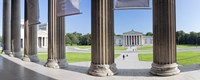 "View from Staatliche Antikensammlung to the Propylaeen and Glyptothek, Koenigsplatz, Munich, Bavaria, Germany by Panoramic Images - 36"" x 12"""