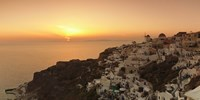 "Village on a cliff, Oia, Santorini, Cyclades Islands, Greece by Panoramic Images - 36"" x 12"""