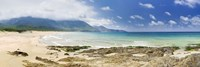 "Beach, Portixeddu Beach, Bay Of Buggerru, Iglesiente, Sardinia, Italy by Panoramic Images - 36"" x 12"""