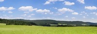 "Field with a mountain range in the background, Schramberg, Rottweil, Black Forest, Baden-Wurttemberg, Germany by Panoramic Images - 36"" x 12"""