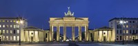 City gate lit up at night, Brandenburg Gate, Pariser Platz, Berlin, Germany Fine Art Print