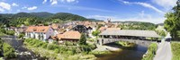 Wooden bridge across a stream, Forbach, Murgtal Valley, Black Forest, Baden-Wurttemberg, Germany by Panoramic Images - various sizes