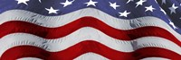 Close-up of an American flag Fine Art Print
