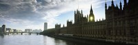 "Houses of Parliament at the waterfront, Thames River, London, England by Panoramic Images - 36"" x 12"""