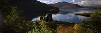 """Castle on a hill, Eilean Donan, Loch Duich, Highlands Region, Inverness-Shire, Scotland by Panoramic Images - 36"""" x 12"""""""
