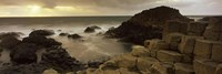 """Rock formations in the sea, Giant's Causeway, County Antrim, Northern Ireland by Panoramic Images - 36"""" x 12"""" - $34.99"""