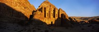 Deep shadows at the monastery, Al Deir Temple, Wadi Musa, Petra, Jordan Fine Art Print