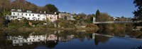 """Riverside Houses and Daly's Bridge over the River Lee at the Mardyke,Cork City, Ireland by Panoramic Images - 36"""" x 12"""", FulcrumGallery.com brand"""
