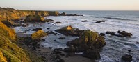 """Rocks on the coast, Cambria, San Luis Obispo County, California, USA by Panoramic Images - 36"""" x 16"""""""
