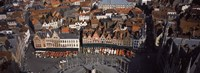 """Aerial view of Marktplatz from the Belfry of Bruges, Bruges, Flanders, Belgium by Panoramic Images - 36"""" x 12"""""""