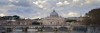 """Arch bridge across Tiber River with St. Peter's Basilica in the background, Rome, Lazio, Italy by Panoramic Images - 36"""" x 12"""" - $34.99"""