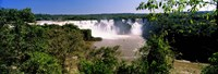 """Floodwaters cascading into the river at Iguacu Falls, Brazil by Panoramic Images - 36"""" x 12"""""""