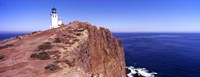 "Lighthouse at a coast, Anacapa Island Lighthouse, Anacapa Island, California, USA by Panoramic Images - 36"" x 12"""
