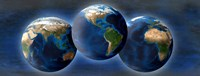 "Three earths by Panoramic Images - 36"" x 12"""