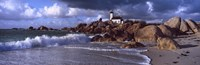 "Lighthouse on the coast, Pontusval Lighthouse, Brignogan, Finistere, Brittany, France by Panoramic Images - 36"" x 12"""