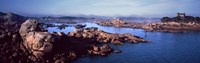 """Ploumanac'h Harbour, Cote de Granit Rose, Ploumanach, Perros-Guirec, Cotes-D'Armor, Brittany, France by Panoramic Images - 36"""" x 12"""", FulcrumGallery.com brand"""