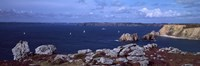 Cliffs on the coast, Roadstead of Brest, Crozon Peninsula, Finistere, Brittany, France by Panoramic Images - various sizes