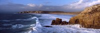 "Surf on the beach, Crozon Peninsula, Finistere, Brittany, France by Panoramic Images - 36"" x 12"""