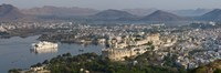 """High angle view of a city, Lake Palace, Lake Pichola, Udaipur, Rajasthan, India by Panoramic Images - 36"""" x 12"""""""