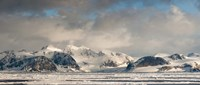 "Ice floes and storm clouds in the high arctic, Spitsbergen, Svalbard Islands, Norway by Panoramic Images - 36"" x 12"""