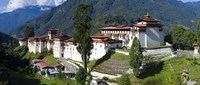 """High angle view of a fortress in the mountains, Trongsa Dzong, Trongsa, Bhutan by Panoramic Images - 36"""" x 12"""""""