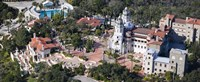 """Aerial view of a castle on a hill, Hearst Castle, San Simeon, San Luis Obispo County, California, USA by Panoramic Images - 36"""" x 12"""""""