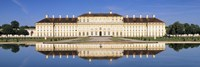 Palace reflecting in water, New Palace Schleissheim, Oberschleissheim, Bavaria, Germany by Panoramic Images - various sizes