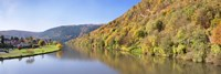 River flowing in a valley in autumn, Neckar River, Neckargemund, Baden-Wurttemberg, Germany by Panoramic Images - various sizes