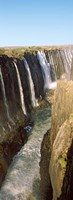 Water falling through rocks in a river, Victoria Falls, Zimbabwe Fine Art Print