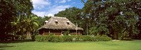 """Old Plantation house on L'Union Estate, La Digue Island, Seychelles by Panoramic Images - 36"""" x 12"""""""
