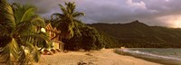 """Hotel apartments on Beau Vallon beach, Mahe Island, Seychelles by Panoramic Images - 36"""" x 12"""""""