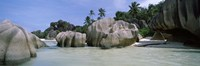 """Granite rocks at the coast, Anse Source d'Argent, La Digue Island, Seychelles by Panoramic Images - 36"""" x 12"""""""