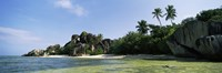 """Rock formations on the coast, Anse Source d'Argent, La Digue Island, Seychelles by Panoramic Images - 36"""" x 12"""""""