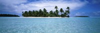 """Clouds over an island, Aitutaki, Cook Islands by Panoramic Images - 36"""" x 12"""""""