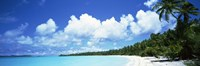 """Clouds over an island, Akaiami, Aitutaki, Cook Islands by Panoramic Images - 36"""" x 12"""""""