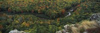 """Fall colors on mountains near Lake of the Clouds, Ontonagon County, Upper Peninsula, Michigan, USA by Panoramic Images - 36"""" x 12"""""""