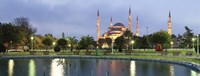 Blue Mosque Lit Up at Dusk, Istanbul, Turkey Fine Art Print