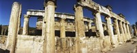 Close up of columns in ruins, Hierapolis at Pamukkale, Anatolia, Central Anatolia Region, Turkey Fine Art Print