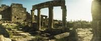 Roman town ruins of Hierapolis at Pamukkale, Anatolia, Central Anatolia Region, Turkey Fine Art Print