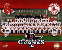 Boston Red Sox 2013 World Series Champions Team Sit Down Fine Art Print