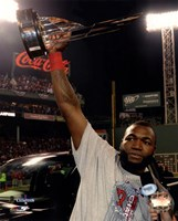 David Ortiz with the 2013 World Series MVP Trophy Game 6 of the 2013 World Series Fine Art Print